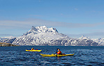 Kayaking in the waterways near Nuuk, Greenland