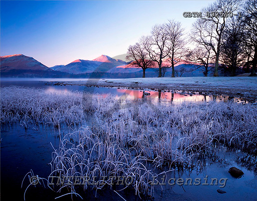 Tom Mackie, CHRISTMAS LANDSCAPE, photos, Frost on Derwent Water, Lake District National Park, Cumbria, England, GBTM892580-1,#XL# Landschaften, Weihnachten, paisajes, Navidad