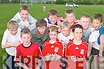 TEAM-MATES: Having fun at the Farranfore Community Games last Friday. Front row l-r: Steve Moloney, Aodan Farrelly and James ODonoghue. Back row l-r: Michael OShea, Patrick Murphy, Denis Carey, Michael Fell, Conor OLeary, Padraig OSullivan, Christopher OConnor and Cathal Goulding..