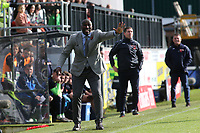 Southend United Manager, Sol Campbell during Dover Athletic vs Southend United, Emirates FA Cup Football at the Crabble Athletic Ground on 10th November 2019