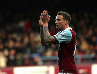 Pictured: West Ham double scorer Kevin Nolan coming off the pitch. 01 February 2014<br />