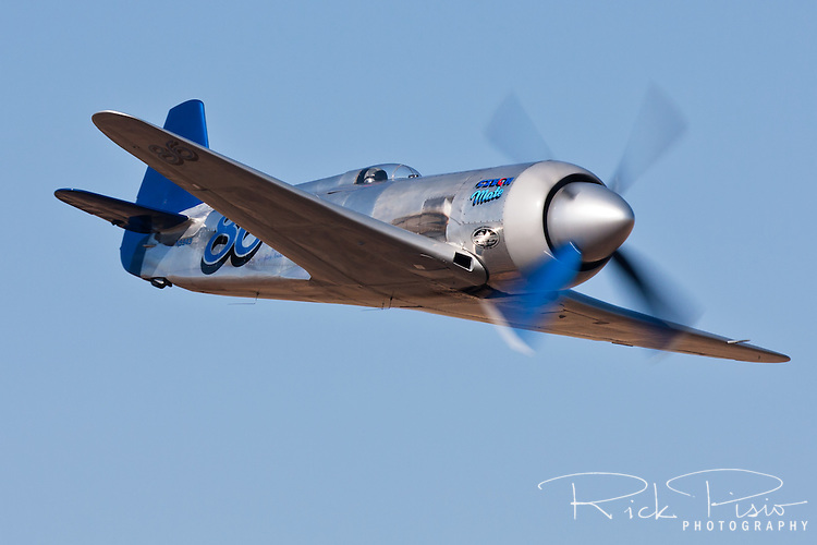 Sherman Smoot flies the Unlimited Air Racer Czech Mate during heat races at the Reno National Championship Air Races held annually at Stead Field, Nevada. Czech Mate, a modified Yak 11 powered by a Pratt & Whitney R2800 Radial Engine , finished 4th in the Gold Unlimited Finals with a speed of 424.517 mph