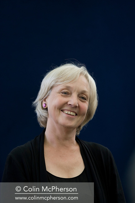 Acclaimed British writer Anne Fine pictured at the Edinburgh International Book Festival where she talked about her work. The three-week event is the world's biggest literary festival and is held during the annual Edinburgh Festival. 2008 was the Book Festival's 25th anniversary and featured talks and presentations by more than 500 authors from around the world.