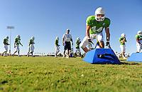 Sept. 16, 2009; Casa Grande, AZ, USA; California Redwoods linebacker (44) Nick Hannah during training camp at the Casa Grande Training Facility & Performance Institute. Mandatory Credit: Mark J. Rebilas-