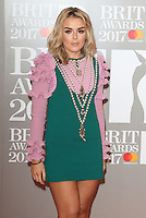 Tallia Storm at The BRIT Awards 2017 at The O2, Peninsula Square, London on February 22nd 2017<br /> CAP/ROS<br /> &copy; Steve Ross/Capital Pictures /MediaPunch ***NORTH AND SOUTH AMERICAS ONLY***