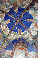 Affreschi sul soffitto della Camera d'Oro del Castello di Torrechiara.<br /> The frescoed ceiling of the Camera d'Oro (Golden Room), in the Castle of Torrechiara.<br /> UPDATE IMAGES PRESS/Riccardo De Luca
