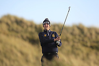 Adam Smith (Mullingar) on the 13th tee during Round 3 of the Ulster Boys Championship at Portrush Golf Club, Portrush, Co. Antrim on the Valley course on Thursday 1st Nov 2018.<br /> Picture:  Thos Caffrey / www.golffile.ie<br /> <br /> All photo usage must carry mandatory copyright credit (&copy; Golffile | Thos Caffrey)
