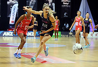 30.08.2017 Silver Ferns Jane Watson in action during the Quad Series netball match between the Silver Ferns and England at the Trusts Arena in Auckland. Mandatory Photo Credit ©Michael Bradley.