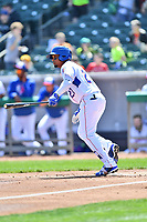 Tennessee Smokies right fielder Eddy Martinez (20) swings at a pitch during a game against the Jackson Generals at Smokies Stadium on April 11, 2018 in Kodak, Tennessee. The Generals defeated the Smokies 6-4. (Tony Farlow/Four Seam Images)
