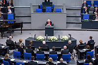 Gedenkstunde am 31. Januar 2018 im Deutschen Bundestag fuer die Opfer des Holocaust.<br /> Im Bild: Im Bild: Dr. h.c. Anita Lasker-Wallfisch.<br /> 31.1.2018, Berlin<br /> Copyright: Christian-Ditsch.de<br /> [Inhaltsveraendernde Manipulation des Fotos nur nach ausdruecklicher Genehmigung des Fotografen. Vereinbarungen ueber Abtretung von Persoenlichkeitsrechten/Model Release der abgebildeten Person/Personen liegen nicht vor. NO MODEL RELEASE! Nur fuer Redaktionelle Zwecke. Don't publish without copyright Christian-Ditsch.de, Veroeffentlichung nur mit Fotografennennung, sowie gegen Honorar, MwSt. und Beleg. Konto: I N G - D i B a, IBAN DE58500105175400192269, BIC INGDDEFFXXX, Kontakt: post@christian-ditsch.de<br /> Bei der Bearbeitung der Dateiinformationen darf die Urheberkennzeichnung in den EXIF- und  IPTC-Daten nicht entfernt werden, diese sind in digitalen Medien nach &sect;95c UrhG rechtlich geschuetzt. Der Urhebervermerk wird gemaess &sect;13 UrhG verlangt.]
