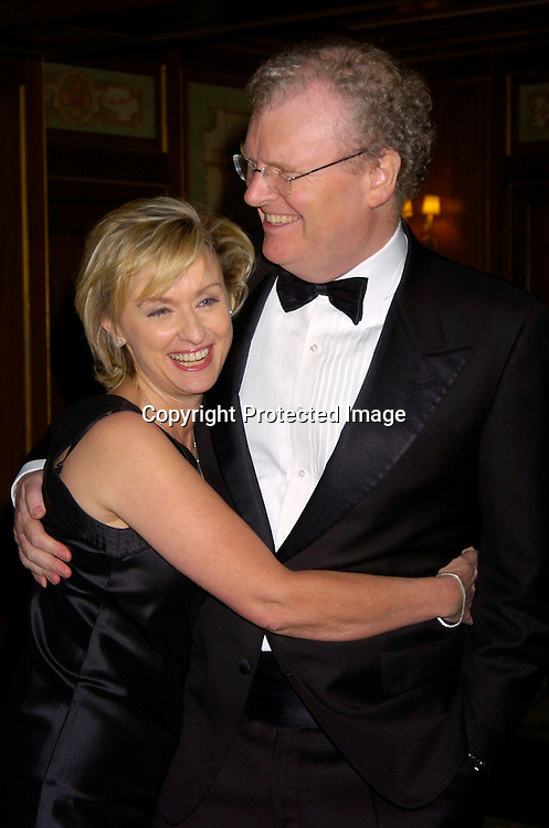 Tina Brown and Sir Howard Stringer..at the 2004 Pen Literary Dinner and the Presentation of Free Expression Awards  on April 20, 2004 at The ..Pierre Hotel in New York City. ..Photo by Robin Platzer, Twin Images