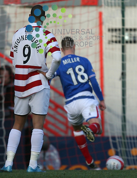 Kenny Miller scores from penalty to make it 3-3 during the Active Nation Scottish Cup Fourth round match between Hamilton and Rangers at New Douglas Park 10/01/10. Picture By Ricky Rae/Universal News & Sport (Scotland)..