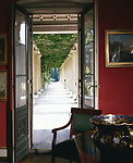Schloss Charlottenhof,  Park Sanssouci, Potsdam, Germany  (1826-29 ) - The red room.