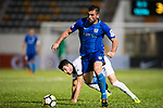 Lucas da Silva SC Kitchee (R) in action against Pablo Gallardo of Dreams FC (L) during the week two Premier League match between Kitchee and Dreams FC at on September 10, 2017 in Hong Kong, China. Photo by Marcio Rodrigo Machado / Power Sport Images