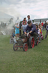 Suffolk Smallholders annual show, Stonham Barns, Suffolk, England, July 2008 Miniature steam engine train,
