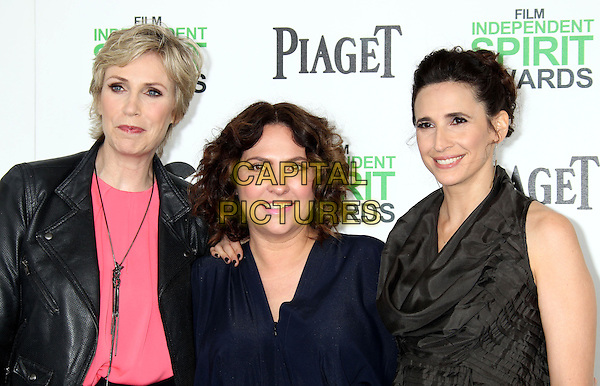 1 March 2014 - Santa Monica, California - Jane Lynch &amp; guests. 2014 Film Independent Spirit Awards held at Santa Monica Beach. <br /> CAP/ADM/RE<br /> &copy;Russ Elliot/AdMedia/Capital Pictures