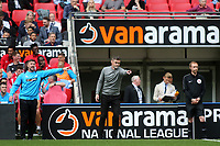 Salford City Manager, Gary Alexander issues some instructions from the touchline during AFC Fylde vs Salford City, Vanarama National League Football Promotion Final at Wembley Stadium on 11th May 2019