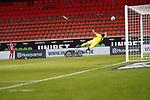 1:1 Jiri Pavlenka (Werder Bremen #01) Tim Kleindienst (1. FC Heidenheim 1846 #10)<br /> <br /> <br /> Sport: nphgm001: Fussball: 1. Bundesliga: Saison 19/20: Relegation 02; 1.FC Heidenheim vs SV Werder Bremen - 06.07.2020<br /> <br /> Foto: gumzmedia/nordphoto/POOL <br /> <br /> DFL regulations prohibit any use of photographs as image sequences and/or quasi-video.<br /> EDITORIAL USE ONLY<br /> National and international News-Agencies OUT.