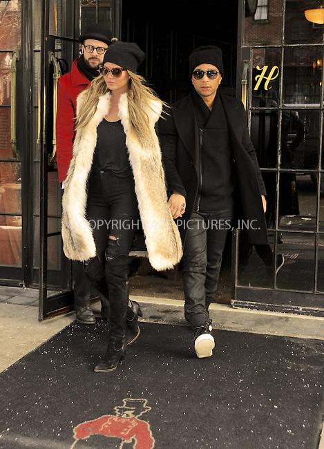 WWW.ACEPIXS.COM<br /> <br /> February 17, 2015 New York City<br /> <br /> Chrissy Teigen and John Legend leave a downtown hotel on February 17 2015 in New York City.<br /> <br /> <br /> <br /> Please byline: Curtis Means/ACE Pictures<br /> <br /> ACE Pictures, Inc.<br /> www.acepixs.com, Email: info@acepixs.com<br /> Tel: 646 769 0430