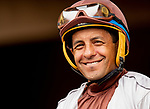 AUG 11: Victor Espinoza before a maiden race at The Del Mar Thoroughbred Club in Del Mar, California on August 11, 2019. Evers/Eclipse Sportswire/CSM