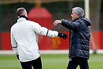 Manchester United manager Jose Mourinho puts his arm around Wayne Rooney during the Manchester United open training session at the Carrington Training Centre, Manchester. Picture date: May 19th 2017. <br /> Pic credit should read: Matt McNulty/Sportimage