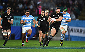 9th September 2017, Yarrow Stadium, New Plymouth. New Zealand; Supersport Rugby Championship, New Zealand versus Argentina; All Blacks prop Joe Moody on the charge up field