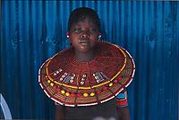 Chepaka, a twelve-year-old Pokot girl. Kenya.