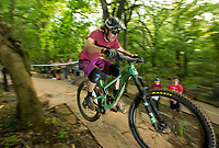 NWA Democrat-Gazette/BEN GOFF @NWABENGOFF<br /> Riders compete in the Women Shred All-American Race Friday, May 10, 2019, on the All-American trail starting from Compton Gardens during the Bentonville Film Festival.