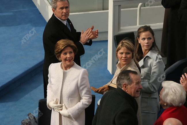 Swearing in ceremony during the inauguration of President George W. Bush for his second term. Washington, D.C. Jan 20, 2005.