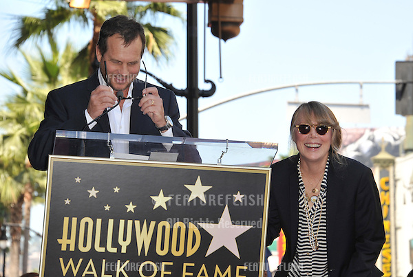 Sissy Spacek with actor Bill Paxton on Hollywood Boulevard where she was honored with the 2,443rd star on the Hollywood Walk of Fame..August 1, 2011  Los Angeles, CA.Picture: Paul Smith / Featureflash