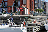 Sportboote am Westhafen,  Malmö, Provinz Skåne (Schonen), Schweden, Europa<br /> pleasure crafts  at Westport in Malmö, Sweden
