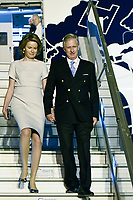 King Philippe & Queen Mathilde of Belgium arriving in New Delhi, while on a State Visit to India