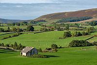 View towards the Bowland fells from near Slaidburn, Clitheroe, Lancashire.