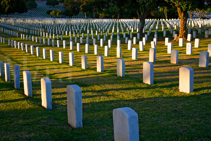 The Fort Rosecrans National Cemetery on Point Loma, San Diego, California