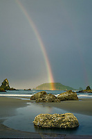Rainbow over Trinidad Head<br />