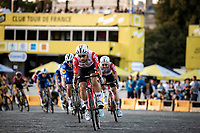 Thomas de Gendt (BEL/Lotto Soudal) in front of the peloton. <br /> <br /> Stage 21: Rambouillet to Paris (128km)<br /> 106th Tour de France 2019 (2.UWT)<br /> <br /> ©kramon