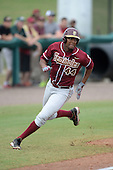 Florida State Seminoles designated hitter / relief pitcher Jameis Winston (44) runs the bases during a game against the South Florida Bulls on March 5, 2014 at Red McEwen Field in Tampa, Florida.  Florida State defeated South Florida 4-1.  (Copyright Mike Janes Photography)