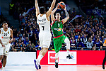 Real Madrid Facundo Campazzo and Kirolbet Baskonia Luca Vildoza during Turkish Airlines Euroleague match between Real Madrid and Kirolbet Baskonia at Wizink Center in Madrid, Spain. October 19, 2018. (ALTERPHOTOS/Borja B.Hojas)