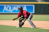 Arizona Diamondbacks second baseman Keshawn Lynch (7) during an Instructional League game against the Kansas City Royals at Chase Field on October 14, 2017 in Phoenix, Arizona. (Zachary Lucy/Four Seam Images)