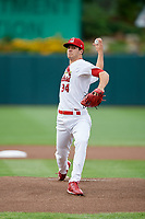 Springfield Cardinals starting pitcher Dakota Hudson (34) delivers a pitch during a game against the Corpus Christi Hooks on May 31, 2017 at Hammons Field in Springfield, Missouri.  Springfield defeated Corpus Christi 5-4.  (Mike Janes/Four Seam Images)