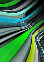 Abstract backgrounds pattern of flowing green stripes