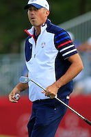 Matt Kuchar US Team on the 11th green during Thursday's Practice Day of the 41st RyderCup held at Hazeltine National Golf Club, Chaska, Minnesota, USA. 29th September 2016.<br /> Picture: Eoin Clarke | Golffile<br /> <br /> <br /> All photos usage must carry mandatory copyright credit (&copy; Golffile | Eoin Clarke)
