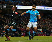 3rd December 2017, Etihad Stadium, Manchester, England; EPL Premier League football, Manchester City versus West Ham United; Sergio Aguero of Manchester City  looks on as he misses the cross
