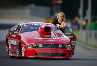 Jun. 15, 2012; Bristol, TN, USA: NHRA pro stock driver Grace Howell during qualifying for the Thunder Valley Nationals at Bristol Dragway. Mandatory Credit: Mark J. Rebilas-