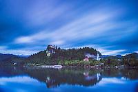 Lake Bled long exposure landscape, Slovenia