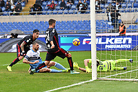 Francesco Acerbi of Lazio (2L) scores second goal for his side during the Serie A 2018/2019 football match between SS Lazio and Cagliari at stadio Olimpico, Roma, December 22, 2018 <br />  Foto Andrea Staccioli / Insidefoto