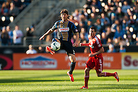 Jeff Parke (31) of the Philadelphia Union. Toronto FC and the Philadelphia Union played to a 1-1 tie during a Major League Soccer (MLS) match at PPL Park in Chester, PA, on April13, 2013.