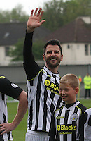 Steven Thompson waves to the crowd before the St Mirren v Ross County Scottish Professional Football League Premiership match played at St Mirren Park, Paisley on 3.5.14.