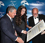 Cameron Mackintosh, Sarah Brightman, Hal Prince with Katherine Oliver the Commissioner of New York City Mayor's Office of Media & Entertainment presenting a Proclamation naming January 26 'The Phantom Of The Opera Day'  attending the 'Phantom of the Opera' - 25 Years on Broadway Gala Performance at the Majestic Theatre in New York City on 1/26/2013