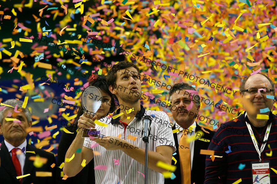 Tennis.Gemax Open 2010, FINAL.Ilija Bozoljac Vs. Karol Beck (SVK).Karol Beck winner, Aca Bolic, Djordjo Antelj.Belgrade, 19.02.2010..foto: Srdjan Stevanovic©